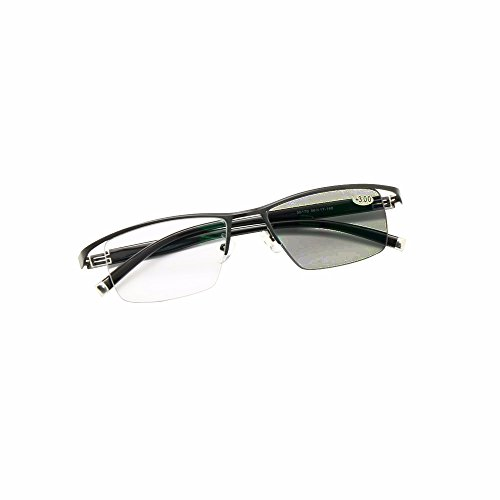 Transition Photochromic Progressive Multi Focus Reading Glasses No Line Gradual +Rx Farsighted Sunglasses 0 to +400 by Increments of - Prescription Transition Non Sunglasses
