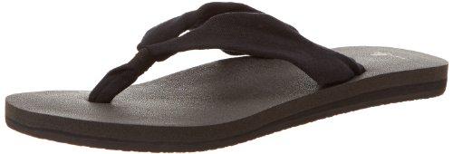 Sanuk Women Yoga Slinger Flip Flops Farbe:Black Größe:7US (38 Eu) BHzEV