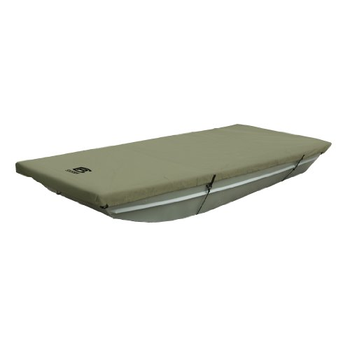 "Classic Accessories Jon Boat Cover, Fits Jon Boats 14' L x 62"" W, Weather Protected Fabric (Olive)"