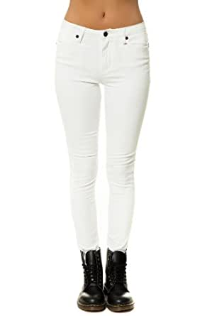 COMUNE Women's Baelyn Hi Rise Skinny Jeans 25 Off White