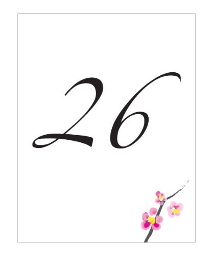 Weddingstar Inc. Cherry Blossom Table Number Cards 1-12