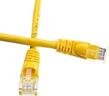 2 Feet ED693572 Yellow Cat5e Ethernet Patch Cable Snagless//Molded Boot Pack of 5