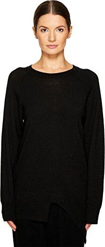 Y's by Yohji Yamamoto Women's Asymmetrical K Wool Sweater Black One (Asymmetrical Wool Sweater)