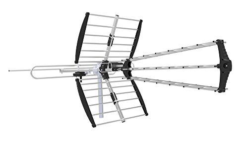 (HDTV 4K UHD Long Distance Outdoor Digital TV Antenna. Long Range High Definition UHF VHF FM Reception Whole House Performance ~175 Mile Range)