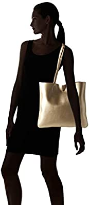 The Lovely Tote Co. Women's Metallic Top Handle Tote Shoulder Bag