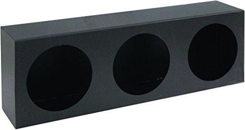 Buyers Products LB6183 Dual Round Light Box, Black Powder Coat Steel
