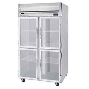 Beverage-Air HFP2-1HG Horizon Series Two Section Glass Half Door Reach-In Freezer 49 cu.ft. Capacity Stainless Steel Front and Sides Aluminum