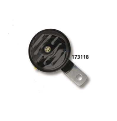 Zodiac 173118 Small Grooved Black Universal 12 Volt Horn