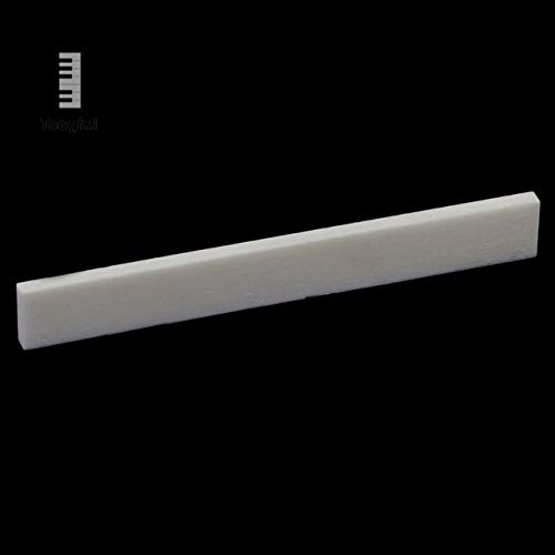 Value-5-Star - Portable Nut & Saddle Real Pure Acoustic Natural Cattle Bone Replacement Accessories for Handmade Classical Guitar Ivory
