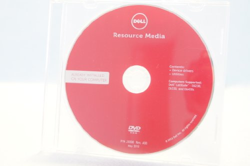 Dell Resource Media DVD ROM PC Comptuer Program Software Driver P/N# J30D8 Rev. A00 May 2012 Device Drivers Utilities E6230, E6330, E6430s