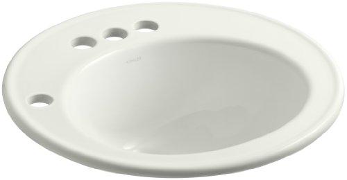 KOHLER K-2202-4L-NY Brookline Self-Rimming Bathroom Sink with 4