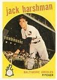 1959 Topps Regular (Baseball) Card# 475 Jack Harshman of the Baltimore Orioles VG Condition