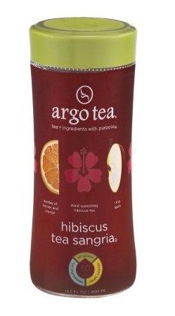 Argo Tea Hibiscus Tea Sangria 13.5 oz. - All Natural Caffeine Free (Pack of 4)