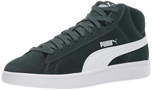PUMA Men's Smash V2 Mid Sneaker, Ponderosa Pine White, 10 M US