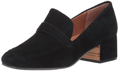 Gentle Souls by Kenneth Cole Women's Eliott Menswear Block Heel Loafer- Suede Dress Pump