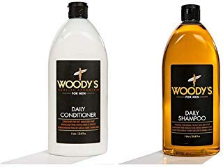 Woody's Styling Gel with Light to Medium Hold for Men, 16.9 Ounce with Woody's Daily Shampoo for Men, 33.8 - Grooming Daily Shampoo Quality Woodys