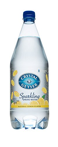 Crystal Geyser Sparkling Spring Water, Lemon, 1.25 Liter (Pack of 12)