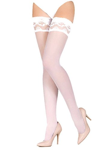 Marilyn Erotic Lace Silicone Band Holdups Thigh Highs