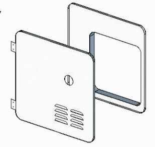 Girard Products Llc 2GWHDAS10 Door Kit for Gswh-2 White
