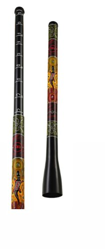 The MEINL Trombone Didgeridoo can vary in pitch like a slide trombone. One section has the mouthpiece and slides into the bell section. Pitch intervals are painted clearly on the side of the instrument. Hand finished with exotic Australian style dot ...