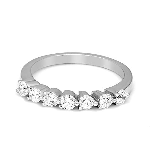 (Valentine Day's Gift 5/8 Carat IGI Certified Lab Grown Diamond Engagement Band Rings for Women Lab Created Diamonds Rings White 925 Real Diamond Rings for Women SI-GH Real Diamond Casual Rings)