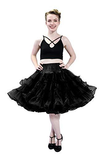 - Malco Modes Dance Petticoat Pettiskirt Underskirt Tutu Crinoline (Black, Medium)