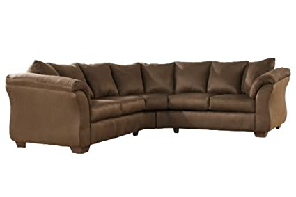 Amazoncom Sectional In Espresso By Ashley Furniture Kitchen Dining