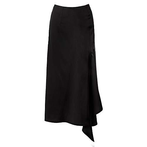 Mitad Dividir Cintura Con Black 2019 Para Longitud E La Dobladillo Mujeres Falda De Wsad Alta Cadera A Largo El Medio Larga Primavera Las Irregulares Ppqxw0