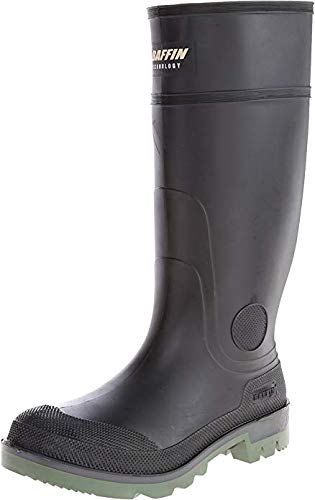 Baffin Men's Enduro PT Rain Boot,Black/Clear/Green,11 M US (Boots Baffin Chemical)