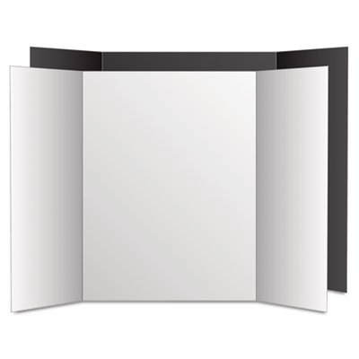 Too Cool Tri-Fold Poster Board, 36 x 48, Black/White, 6/PK, Sold as 1 Carton, 6 Each per Carton