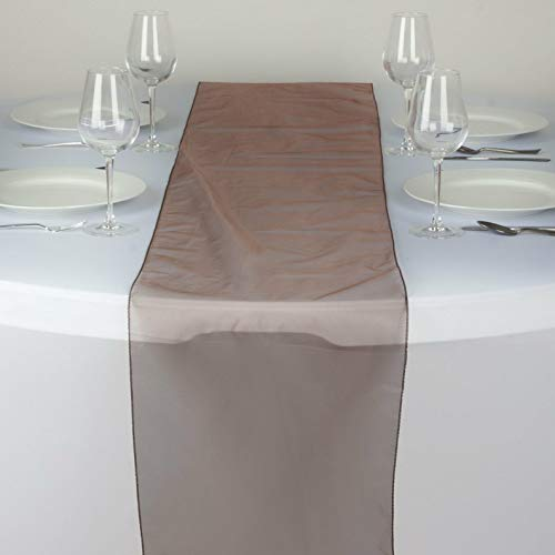 Mikash Sheer Organza Table Runner Wedding Party Banquet Decoration 20+ Colors! | Model WDDNGDCRTN - 19563 |