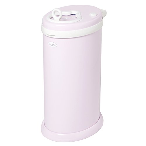 Ubbi Steel Diaper Pail, Light Pink (Pink Pail)