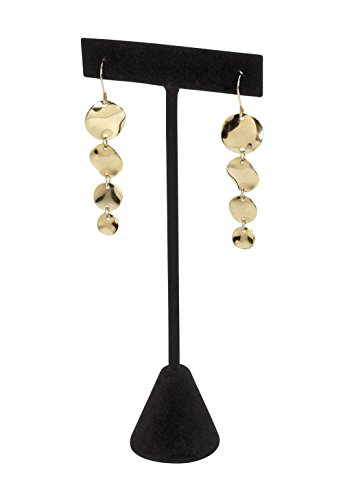 SSW Basics LLC Black Velvet Earring T-Bar Display - Basic Black Earrings