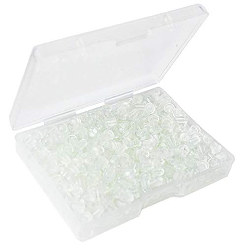 400pcs Earring Backs, Premium Clutch Safety Earring Pad, Clear Bullet Stopper Replacement Jewelry Findings Stored in a Small Storage Box (400pcs)