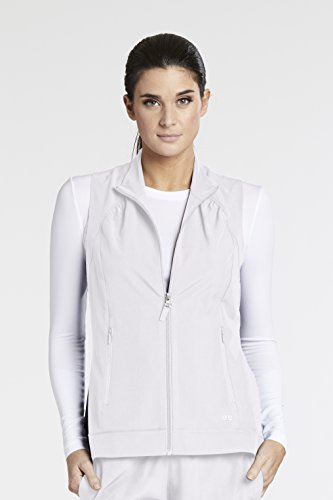 Barco One 5406 Mock Neck Zipper Vest White XL