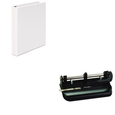 KITSWI74350UNV20962 - Value Kit - Swingline 32-Sheet Lever Handle Two- to Seven-Hole Punch (SWI74350) and Universal Round Ring Economy Vinyl View Binder (UNV20962)
