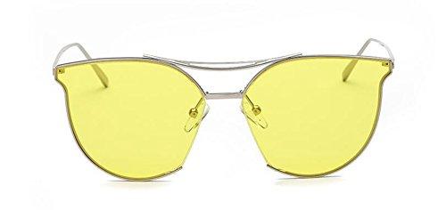 de retro en style inspirées du vintage métallique polarisées Jaune lunettes cercle Lennon soleil rond Film TxwdYnHTq