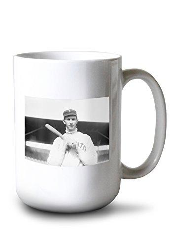Maple Mug Toronto Travel Leafs (Lantern Press Bill Bradley, Toronto Maple Leafs, Baseball Photo (15oz White Ceramic Mug))
