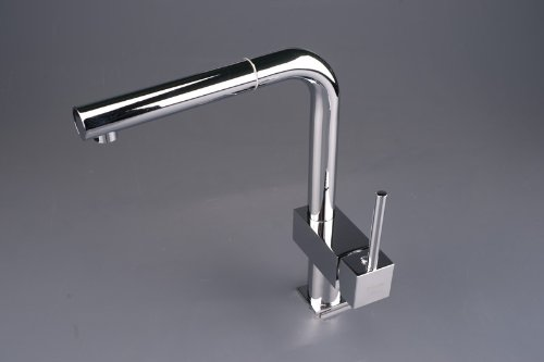 Luxury Brass Waterfall Basin&sink Pull Out Spray Tap Mixer Kitchen Faucet , Chrome Finish Ys4547