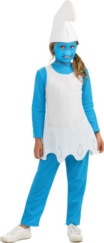 Smurfette Halloween Costume Toddler (Smurfs Movie Smurfette Costume,Medium 8-10)