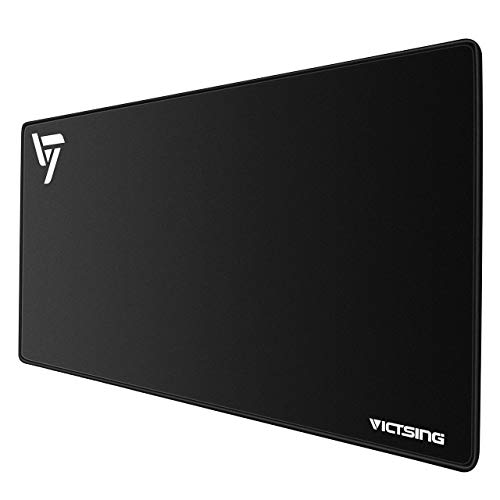 (VicTsing Extended Gaming Mouse Pad, Thick Large (31.5×15.75×0.12 Inch) Computer Keyboard Mousepad Mouse Mat, Water-Resistant, Non-Slip Base, Durable Stitched Edges, Ideal For Both)