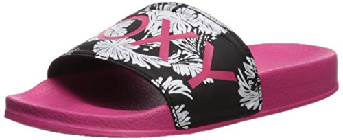 Roxy Girls' RG Slippy Slide On Sandal Flip-Flop Pink 4, 12 M US Little Kid