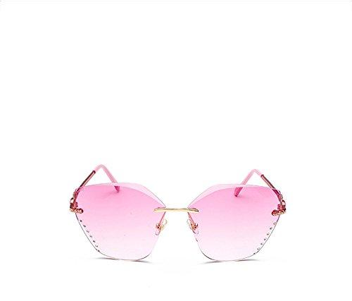 Lunettes Homme Lunettes Femme carré Coupe Femme de sans Fashion Pink DESESHENME cadre nuances soleil Lentilles Homme FXg7qw