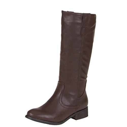 Mujer Guantes, 190de PG, botas marrón