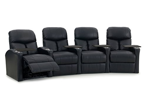 Octane Seating Bolt R4cm Bnd Bl Octane Bolt Xs400 Leather Home Theater Recliner Set  Row Of 4