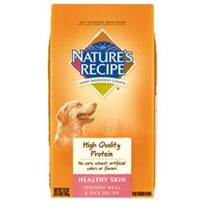 Nature's Recipe 514600 Healthy Skin Venison & Rice Recipe Dog Food, 30 Lbs