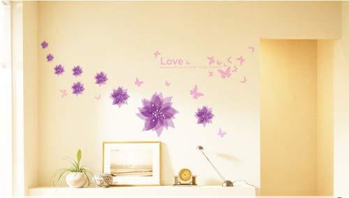 hibiscus flowers diy wall decals