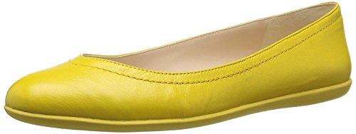 Nine West WomenS Zarong Leather Ballet Flat, Yellow, 35.5 B(M) EU/3.5 B(M) UK