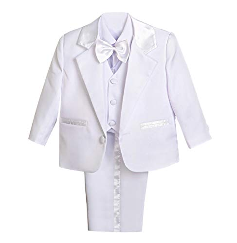 Baby Clothes Boy Dressy - Dressy Daisy Baby Boy' 5 Pcs Set Formal Tuxedo Suits No Tail Wedding Christening Outfits Size 12-18 Months White