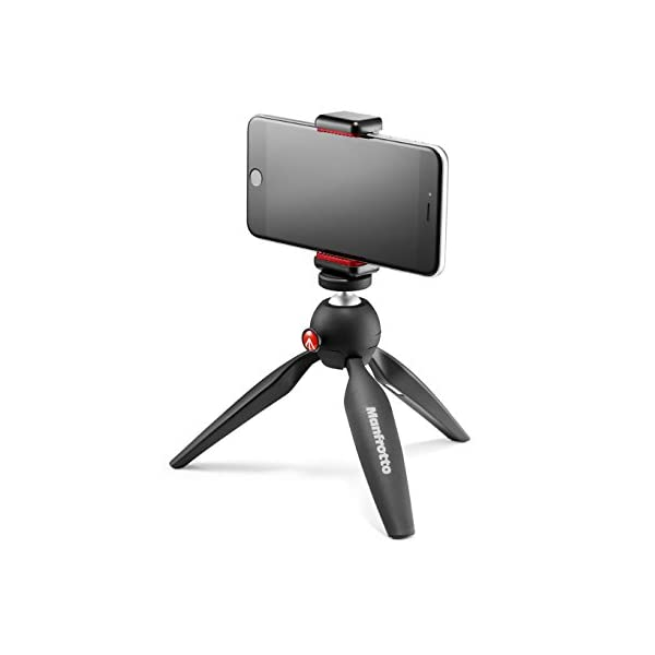 RetinaPix Manfrotto MKPIXICLAMP-BK-Mini Tripod BK W/Phone Clamp